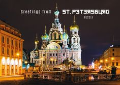St. Petersburg, Russland | Urlaubsgrüße | Echte Postkarten online versenden…