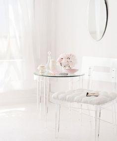 white on white on white and lucite