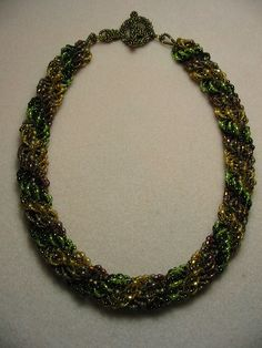 Free Pattern! Double-Triple Spiral by Sabina Anderson featured in Bead-Patterns.com Newsletter!