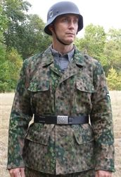 Waffen SS Herringbone Twill (HBT) M44 Dot (Erbsenmuster) Camouflage 4 Pocket Tunic