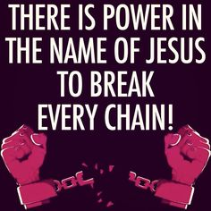 I hear the chains falling!
