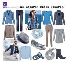 """""""Cool colors/ koele kleuren, mooi voor de koele kleurentypes."""" By Margriet Roorda-Faber."""