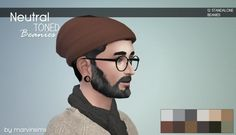 Marvin Sims: Neutral-Toned Beanies • Sims 4 Downloads