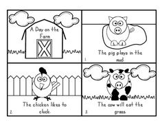 """This cute, 8 page farm booklet is great for pre-k, k, and 1st grade.  It is in black and white so students are able to color the booklet.  The last page asks """"What would you do on the farm?"""" Children answer the question by illustrating that page.  This is a great way students can make the book their own!"""