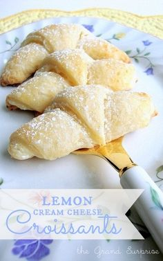 the Grand Surprise!: lemon~cream cheese Croissants