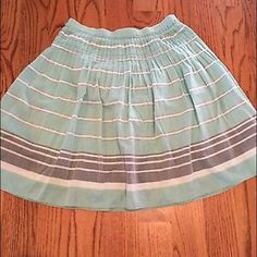 Cute,soft striped skirt bought at Dillard's Nice skirt only worn a couple of times. I bought it at Dillard's. In very good,gently worn condition. Comes from a smoke free home. MSSP Skirts