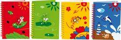 Ob nun kurze Notizen oder kleine Zeichnungen – ab jetzt geht nichts mehr verloren! Mit diesen kleinen Notizbüchern á 40 Seiten gibt es keine fliegenden Notizzettelchen mehr, denn alles wird in einem Buch festgehalten. In kräftigen Frühlingsfarben gehaltene, handbemalte Ringbücher mit niedlichen Holzapplikationen.