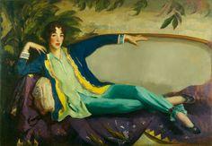 Gertrude Vanderbilt Whitney, 1916, Robert Henri. American Ashcan School Painter (1865 - 1929)