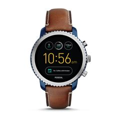 Gen 3 Smartwatch - Q Explorist Luggage Leather - Fossil