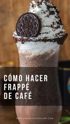 Starbucks Recipes, Starbucks Drinks, Coffee Recipes, Oreo Frappe Recipe, Other Recipes, Sweet Recipes, Sweet Coffee, Iced Coffee, Milkshake Recipes