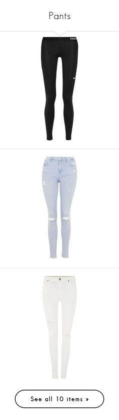 """Pants"" by bayylleeiigghh ❤ liked on Polyvore featuring activewear, activewear pants, pants, leggings, bottoms, calça, black, nike activewear, nike sportswear and nike activewear pants"