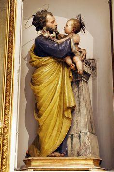 Jesus Christ Images, Religion Catolica, Jesus Pictures, Catholic Art, Holy Family, St Joseph, Angel Art, Blessed Mother, Caravaggio