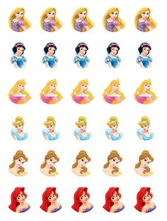 Free Disney Princess Cupcake Toppers