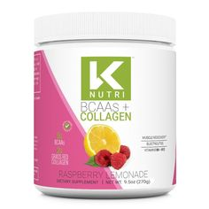 K Nutri's BCAA + Collagen is here and it combines 5g of BCAA's for your essential amino acids + 2g of Grass-Fed Collagen for the hair, skin and nails you've always wanted. This mix includes Vitamin B6 and B12, and a proprietary blend of electrolytes to keep you hydrated. This powerful combo comes in a delicious Pineapp Raspberry Lemonade, Muscle Recovery, Energy Level, Refreshing Drinks, Amino Acids, Collagen, Vitamins, Grass, Nails