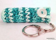 Crochet Keychain Lip Balm Holder