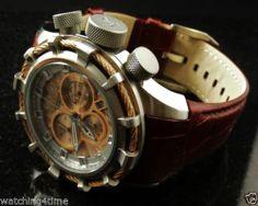 Invicta 11042 Reserve Bolt Sport Elegant Brown Leather Rose Gold