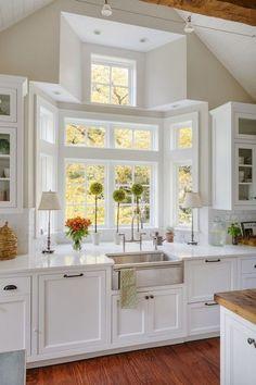 Bello diseño de ventana de esta cocina. - Paty Montes - Google+