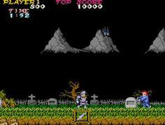 Ghosts'n Goblins (1985). Videojuego de plataformas de arcade creado por Capcom.