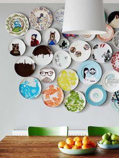 regardsetmaisons: Le mur d'assiettes