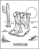cartoon cowboy boots coloring pages - photo#23