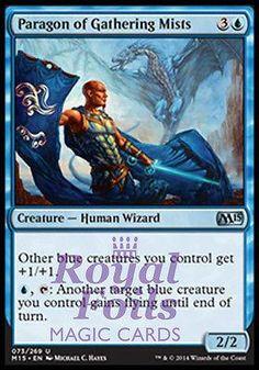 **4x FOIL Paragon of Gathering Mists MTG M15 Core Set Uncommon MINT blue