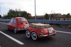 FIAT 500 + matching trailer: stunning!