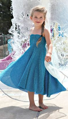 Elsa Dress Sewing Tutorial ~ this is a quick and easy sew!