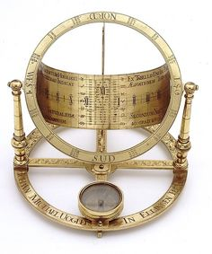 Johann Michael Vogler, Universal equinoctial dial for latitudes 0°-90° North, early 18th century. Brass. Ellingen, Germany.