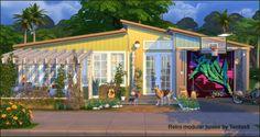 Tanitas Sims: Retro modular house • Sims 4 Downloads