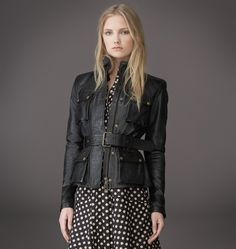 <p>The perfect combination of tradition, innovation and modernity, our heritage-inspired Triumph jacket is built to fit closer and more elegantly on the female frame today with an iconic belted four-pocket silhouette with more structure through the shoulders. In signature hand-waxed calf best known for its stunning antique patina and water-repellent property. </p><br/> <p>• Throat latch</p> <p>• Covered two-way zip front</p> <p>• Belstaff logo sleeve patch</p>  <p>• ...