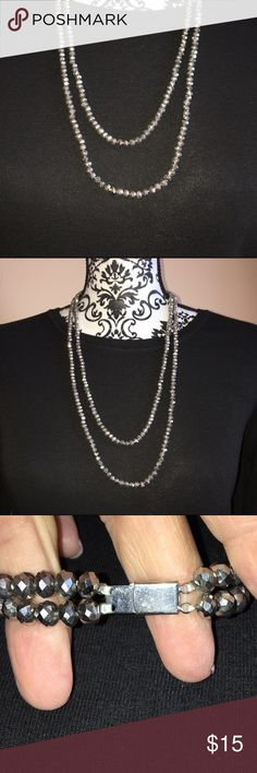 Double stranded beaded necklace in EUC Double stranded beaded necklace in EUC. Jewelry Necklaces