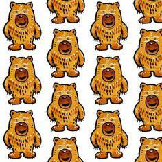 Little Bear fabric by taraput on Spoonflower - custom fabric