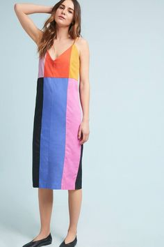 Mara Hoffman Georgia Colorblock Slip Dress | Anthropologie