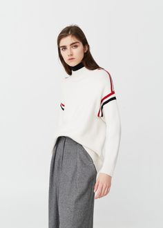 Contrast trim sweater - Cardigans and sweaters for Woman | MANGO USA