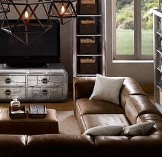 Fulham Leather U Sofa