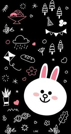 Rabbit and dream Inspirational Phone Wallpaper, Phone Wallpaper Images, Lines Wallpaper, Friends Wallpaper, Cool Wallpapers For Phones, Cute Wallpaper For Phone, Bear Wallpaper, Cute Disney Wallpaper, Kawaii Wallpaper