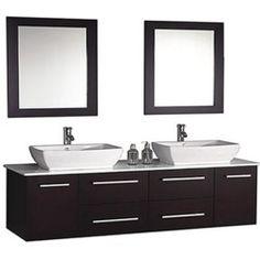 Tips on Buying MTD Vanities MTD-8113 Nepal 63 Double Sink Wall Mounted Bathroom Vanity Set - Vanity Top Included