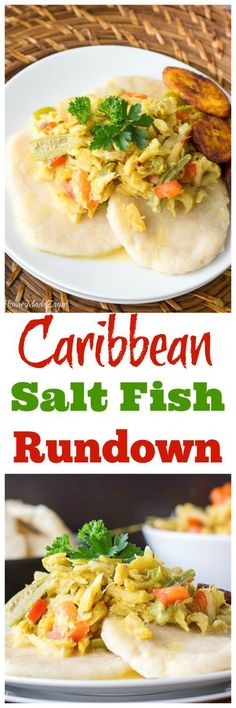 A stewed dish popular in the Caribbean made with fish cooked down in coconut milk accompanied by tomatoes and green peppers Popularly known as run down or dip and fall ba. Fish Recipes, Seafood Recipes, Indian Food Recipes, Dinner Recipes, Cooking Recipes, Ethnic Recipes, Veggie Recipes, Dinner Ideas, Recipes