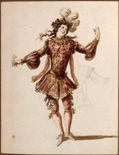 Dessin de costume : Danseur Auteur : Berain Jean I (1640-1711) Crédit photographique : (C) RMN-Grand Palais (musée du Louvre) / Gérard Blot Localisation : Paris, musée du Louvre, collection Rothschild