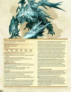 dungeons and dragons creatures Dnd Dragons, Dungeons And Dragons 5e, Dungeons And Dragons Homebrew, Ice Monster, Monster High, Dnd Stats, Dnd 5e Homebrew, Dnd Monsters, Arte Horror