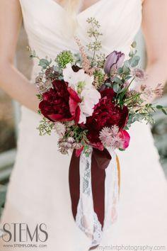 I like the white lace ribbon. Ma Maison Wedding   French Garden Opulence — STEMS – Austin Florist | Austin Wedding Florist | Austin Event Florist