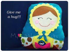Matryoshka felt pillow.