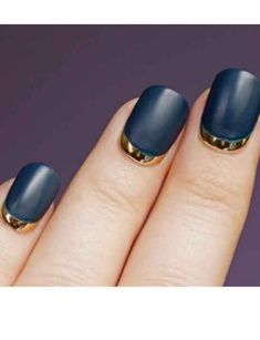 Matte navy with metallic gold