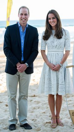 Royal Tour 2014 | Kate Wears Zimmerman to New South Wales Surf Life Saving Nippers' Club event at Manly Beach