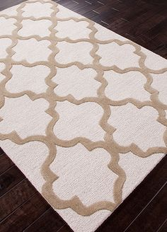 Wool Material carpet in Ivory,white color