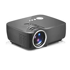 OURSPOP New Portable Mini 1080P LED Projector Home Cinema Theater Black OPUP70 ** Click image for more details.