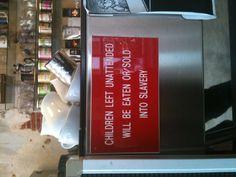 How my favorite coffee corner deals with unattended kids ; - ))  Village Coffee Utrecht