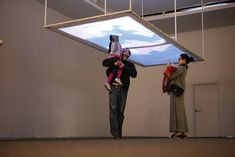 Interactive installation invites visitors to play with the clouds