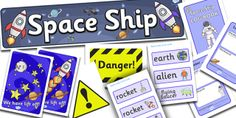 Twinkl Resources >> Space Ship Role Play Pack >> Classroom printables for Pre-School, Kindergarten, Elementary School and beyond! Topics, Space, Role Play