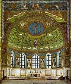 St. Apolloniare Basilica - Ravenna region, Italy - Byzantine mosaic in the town of Classe